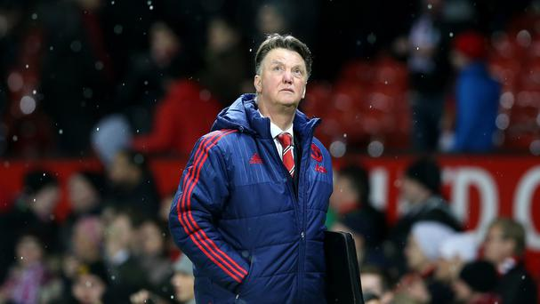 Things are looking up for Louis van Gaal, who watched his team beat Stoke 3-0