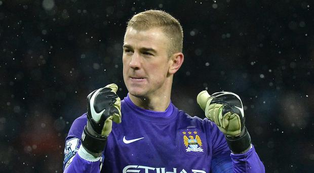 Joe Hart, pictured, is hoping to give manager Manuel Pellegrini the best possible send-off