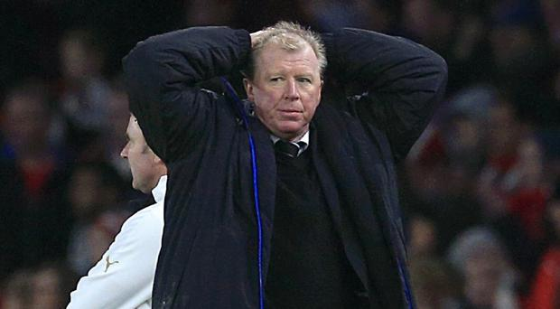 Newcastle head coach Steve McClaren reflected on a wasted opportunity at Everton