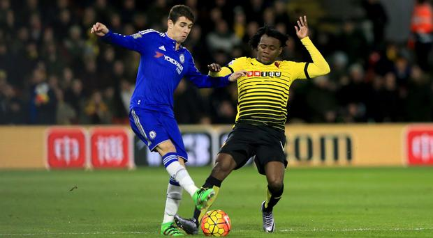 Troy Deeney has vowed to speak to Juan Carlos Paredes, right