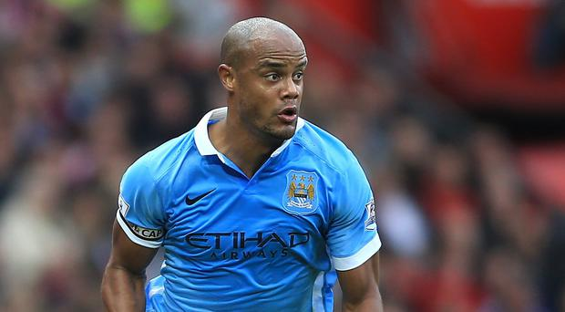 Manchester City captain Vincent Kompany is back in training