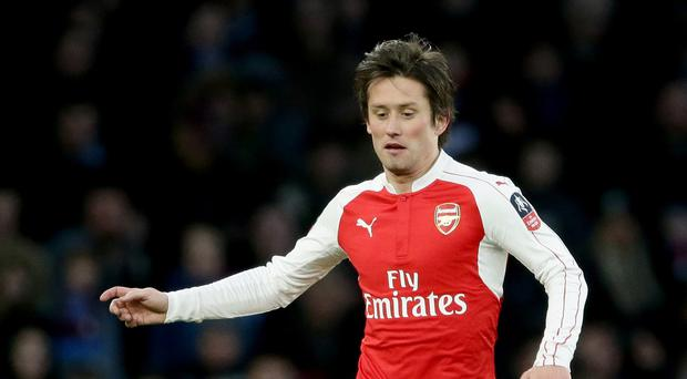 Tomas Rosicky is facing another spell out with a thigh injury