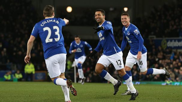 Aaron Lennon, centre, is in good goal-scoring form