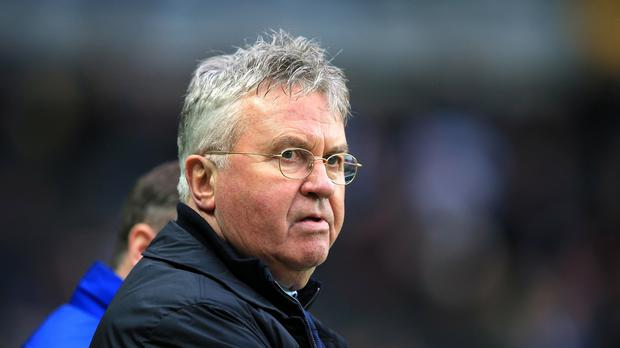 Chelsea manager Gus Hiddink appeared to have a slight edge over rival Louis van Gaal