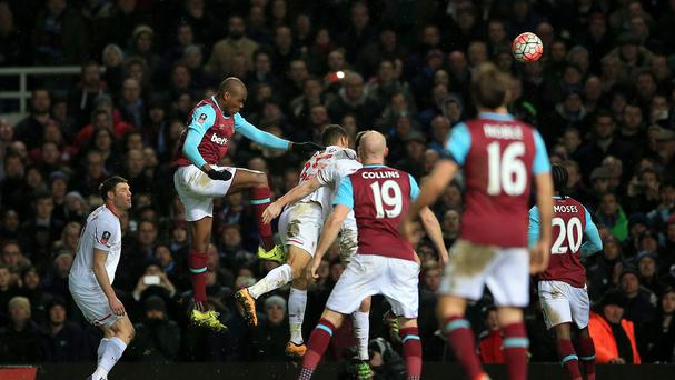 Angelo Ogbonna headed a last-gasp winner for West Ham against Liverpool