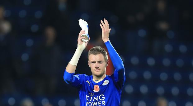 Leicester's Jamie Vardy is favourite to win the Professional Footballers' Association's Player of the Year award.