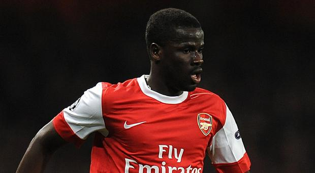 Emmanuel Eboue is once again training with a Premier League club