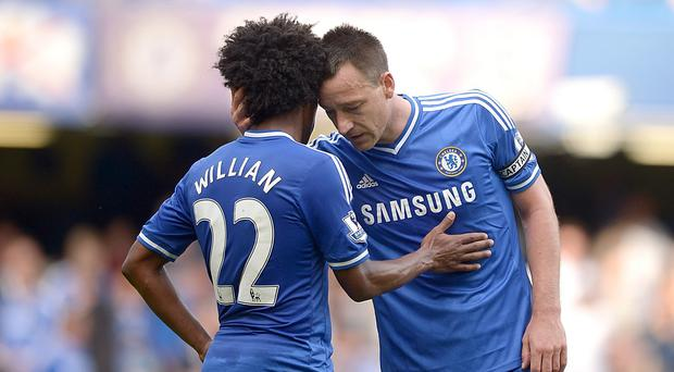 Willian is not expecting to still be playing alongside John Terry next season
