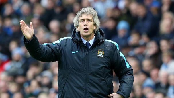 Manchester City manager Manuel Pellegrini wants his team to pick up the pace