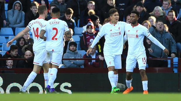 Daniel Sturridge, right, was among the goals for Liverpool