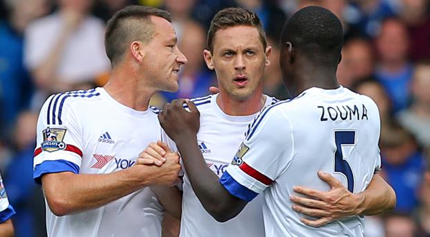 Injured pair John Terry, left, and Kurt Zouma, right, have formed Chelsea's best central defensive partnership this season, according to the statistics