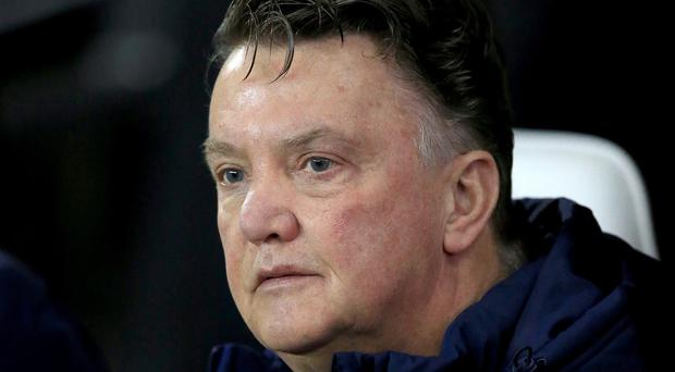 Van Gaal rejected suggestions that his decision to sell strikers like Danny Welbeck and Javier Hernandez had left United desperately short of firepower (PA)