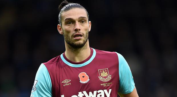 West Ham's Andy Carroll is back on the treatment table