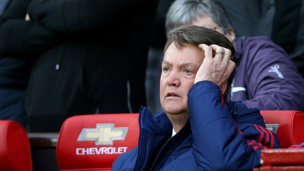'Van Gaal is scrapping to save his job and risked further scrutiny after conceding that United must restore their formidable reputation following a disastrous sequence of results'. Photo: PA