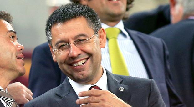Barcelona's president Josep Maria Bartomeu does not think Manchester City are trying to replicate his club