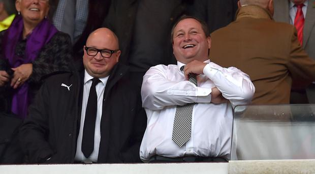 Lee Charnley (left), managing director of Newcastle, who insist they are not a club in crisis