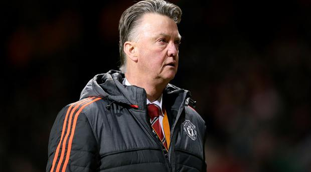 Louis van Gaal, pictured, is annoyed by talk Jose Mourinho will replace him at Manchester United