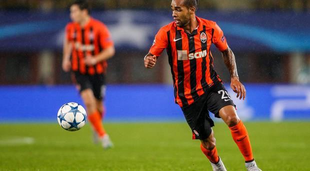 Alex Teixeira, seemingly bound for Anfield, instead turned east from Shakhtar Donetsk and joined Jiangsu Suning for the staggering fee of €50m. Photo: Getty