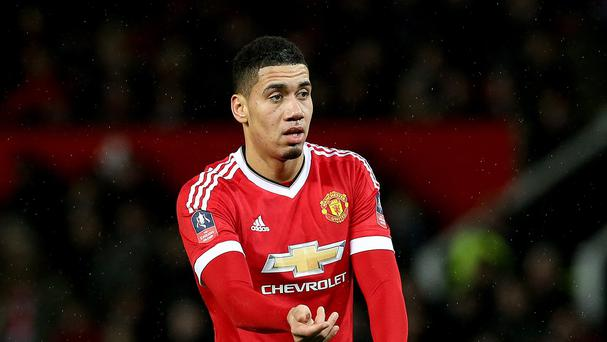 Chris Smalling is hoping to make Manchester United's clash with Arsenal. Photo: PA