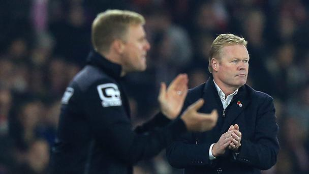 Ronald Koeman, right, thinks Eddie Howe is a fine manager