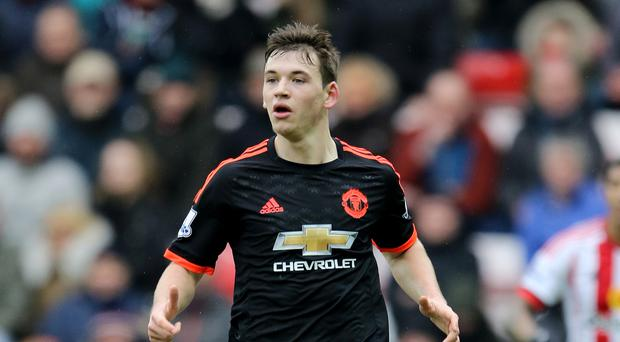 Manchester United's Donald Love appeared to go off hurt during an under-21 fixture with Middlesbrough