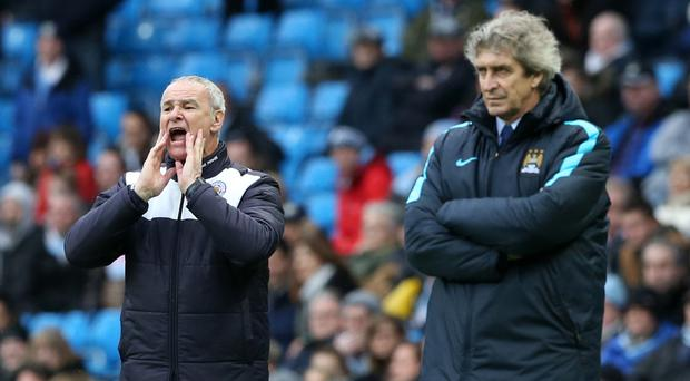Claudio Ranieri, left, and Manuel Pellegrini are both hoping to lead their sides to the title
