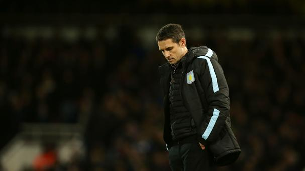 Remi Garde appears dejected as Aston Villa's frailties continue