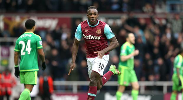 Michail Antonio was on target again for West Ham