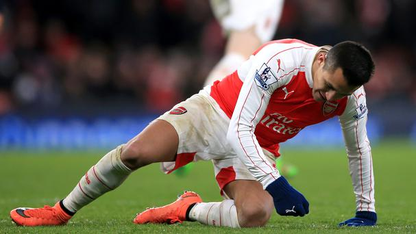 Arsenal's Alexis Sanchez was unable to find the net against Swansea