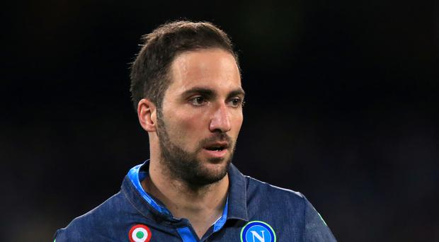 Napoli striker Gonzalo Higuain is reportedly a wanted man