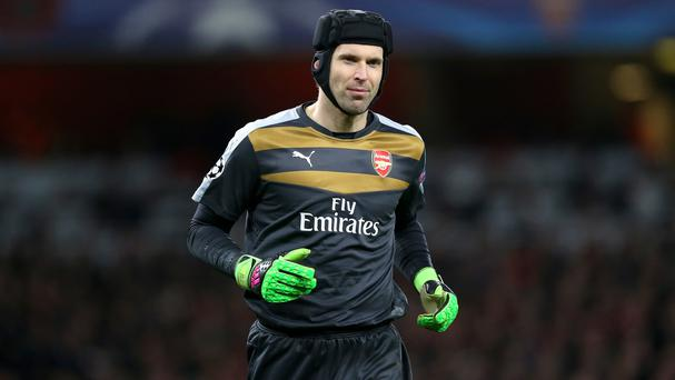 Arsenal goalkeeper Petr Cech will be out for three to four weeks