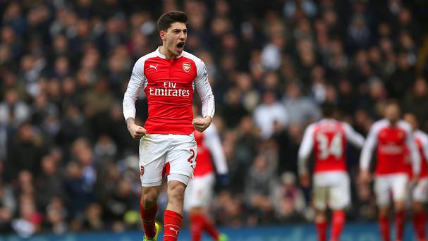 Hector Bellerin, pictured, rivalled Harry Kane as the top performer