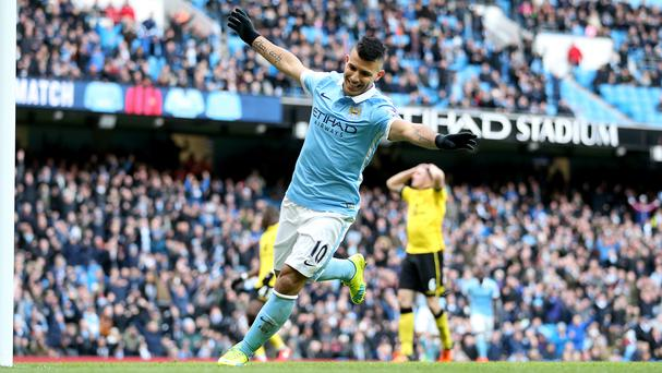 Sergio Aguero scored a brace for Manchester City