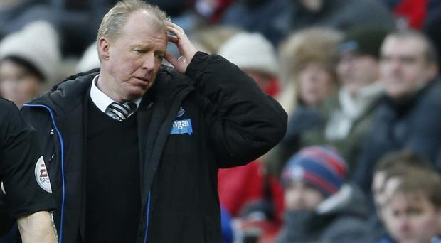 Newcastle manager Steve McClaren cut a dejected figure in his side's defeat to Bournemouth