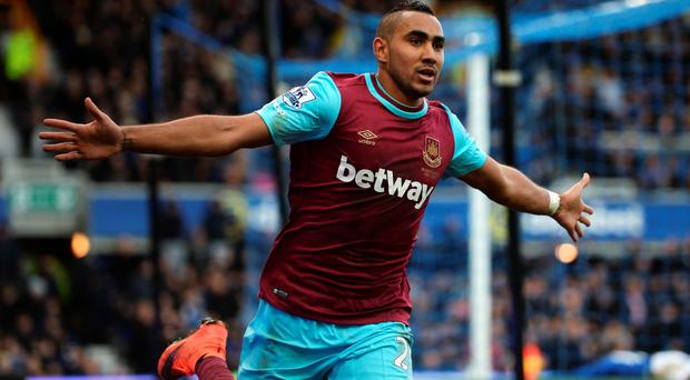 Dimitri Payet celebrates after scoring the winner for West Ham Photo: Getty Images