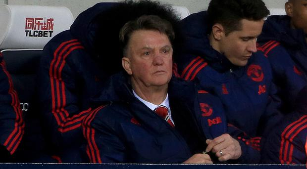 Manchester United manager Louis van Gaal was frustrated at West Brom