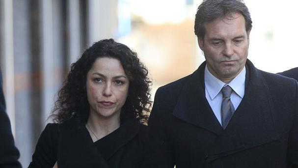 Former Chelsea team doctor Eva Carneiro, left, arrives at Croydon Employment Tribunal