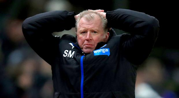 Steve McClaren was back behind his desk amid speculation over his future at Newcastle