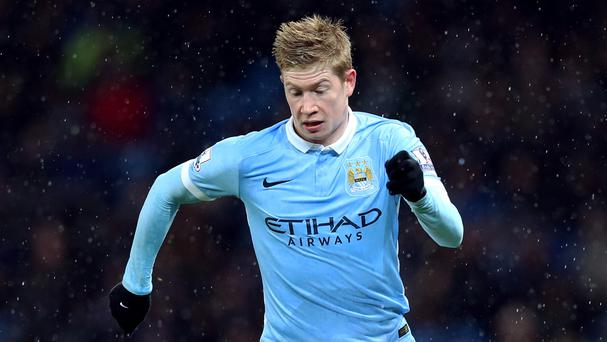 Manchester City's Kevin De Bruyne is on the road to recovery after injury