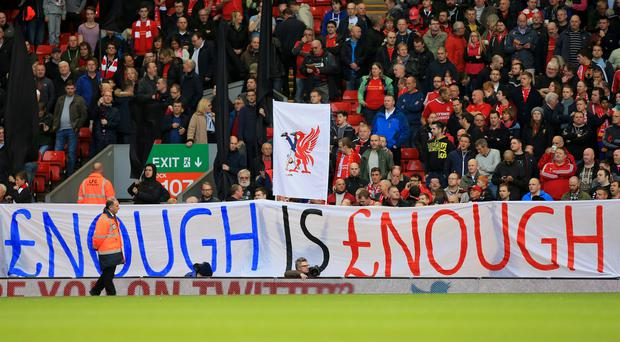 Liverpool fans have been leading the protests against high ticket prices in the Premier League