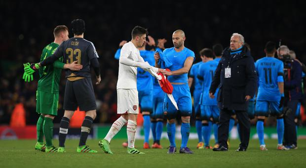 Players swapping shirts can be a controversial subject for fans and managers alike