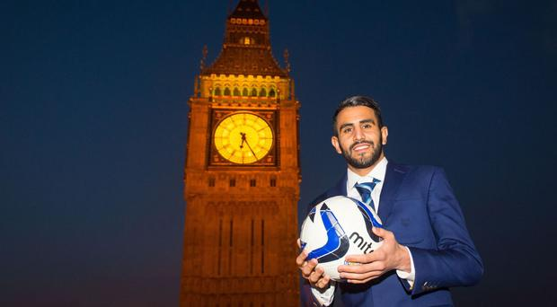 Riyad Mahrez was presented with the Sportsman of the Year award at the Asian Voice Political and Public Life awards in London