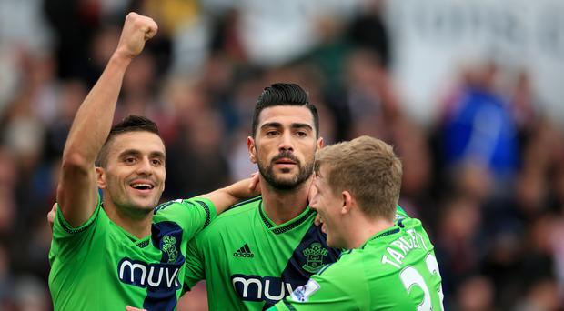Graziano Pelle, centre, is being backed to fire Southampton towards a European berth