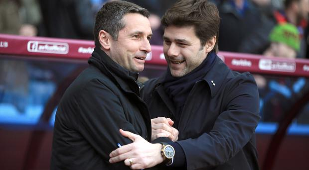 Mauricio Pochettino, pictured right, was not getting carried away after Tottenham's win at Villa
