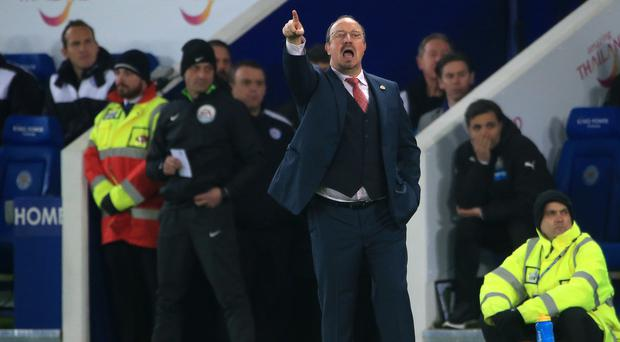 Newcastle manager Rafael Benitez lost his first match in charge of the Magpies at Leicester