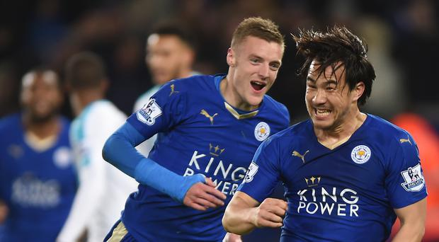 Leicester moved a step closer to a remarkable Premier League title on Monday night