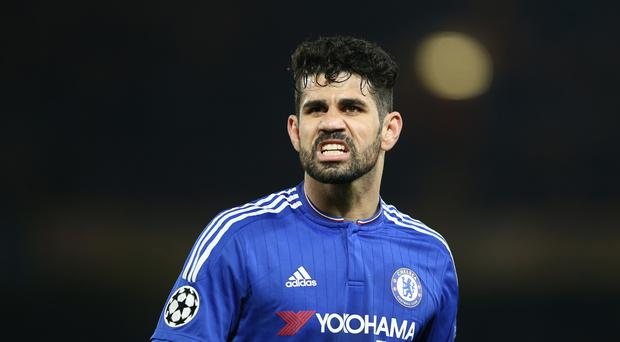Chelsea's Diego Costa could be banned for three matches following his sending off at Everton