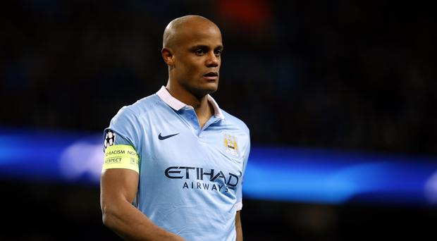 Manchester City captain Vincent Kompany is facing another lay-off