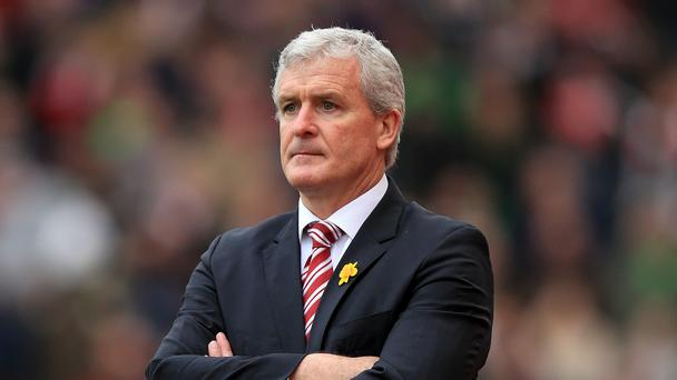 Mark Hughes is targeting an eight-match unbeaten run to end Stoke's campaign
