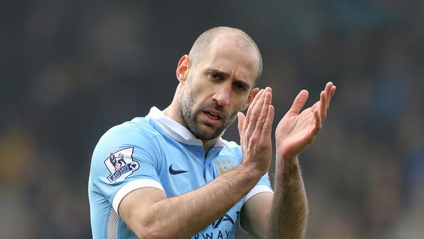 Pablo Zabaleta says Manchester City's sole focus is the Manchester derby on Sunday